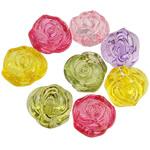 Beads transparente akrilik, Lule, i tejdukshëm, ngjyra të përziera, 20x14mm, : 3mm, 5KG/Shumë,  Shumë