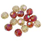 Beads transparente akrilik, Oval, Ngjyra AB kromuar, i tejdukshëm, ngjyra të përziera, 12x11mm, : 4mm, 5KG/Shumë,  Shumë