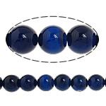 Beads Blue Natyrore agat, Blue agat, Round, natyror, 10mm, : 1-1.5mm, : 15Inç, 5Fillesat/Shumë,  Shumë