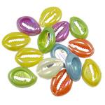 AB-ngjyra akrilik Beads kromuar, Shape Tjera, Ngjyra AB kromuar, ngjyra të përziera, 21x15x5.50mm, 5KG/Shumë,  Shumë