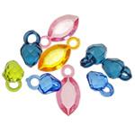 Pendants akrilik, Shape përziera, i përzier, ngjyra të përziera, 16-22mm, : 3-3.5mm, 5KG/Shumë,  Shumë
