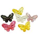 AB-ngjyra akrilik Beads kromuar, Flutur, Ngjyra AB kromuar, i tejdukshëm, 27x18x13mm, : 3mm, 5KG/Shumë,  Shumë
