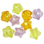 Beads transparente akrilik, Yll, i tejdukshëm, ngjyra të përziera, 12mm, : 5mm, 5KG/Shumë,  Shumë