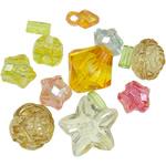 Beads akrilik të përziera, Shape përziera, i tejdukshëm, ngjyra të përziera, 10-22mm, : 1.5-5mm, 5KG/Shumë,  Shumë