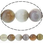 Botswana agat Natyrore Beads, Round, 8mm, : 1mm, : 15.5Inç, 2Fillesat/Shumë,  Shumë