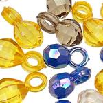 Pendants akrilik, Oval, i tejdukshëm, ngjyra të përziera, 12-13mm, : 3-3.5mm, 5KG/Shumë,  Shumë