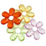 Pendants akrilik, Lule, i tejdukshëm, ngjyra të përziera, 27x34x6mm, : 10mm, 5KG/Shumë,  Shumë