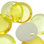 Beads transparente akrilik, Round Flat, i tejdukshëm, ngjyra të përziera, 18x3.50mm, : 2.5mm, 5KG/Shumë,  Shumë