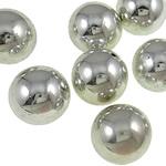 Beads praruar akrilik, Round, ngjyrë platin praruar, qetë, asnjë, 14mm, : 1mm, 5KG/Shumë,  Shumë