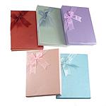 Karton Set bizhuteri Box, Drejtkëndësh, ngjyra të përziera, 12x16x3mm, 30PC/Shumë,  Shumë