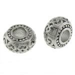 Stainless Steel Beads European, Rondelle, pa karrem, 14.20x8mm, : 5.2mm, 30PC/Qese,  Qese