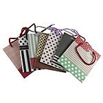Shopping Bag, Letër, Drejtkëndësh, i përzier, ngjyra të përziera, 133x150x75mm, 120PC/Qese,  Qese
