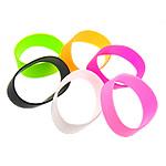 Rrathë Silicone, Shape Tjera, asnjë, ngjyra të përziera, 25.50mm, : 8Inç, 50Fillesat/Shumë,  Shumë