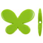 Beads Solid Color akrilik, Kafshë, asnjë, ngjyra të forta, e gjelbër, 46x35x7.50mm, : 3mm, 70PC/Qese,  Qese