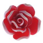 Beads polimer balta, Polymer Clay, Lule, asnjë, i kuq, 17.50x17x10mm, : 1.5mm, 100PC/Qese,  Qese