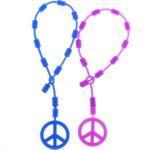 Rrathë Silicone, Logo e Paqes, asnjë, ngjyra të përziera, 5.5mm, 25.5mm, : 10.5Inç, 100Fillesat/Shumë,  Shumë