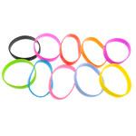 Rrathë Silicone, Shape Tjera, asnjë, ngjyra të përziera, 12.20mm, : 8Inç, 100Fillesat/Shumë,  Shumë