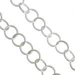 925 Zinxhirët Silver Sterling, 925 Sterling Silver, argjend praruar vërtetë, asnjë, 5x5x0.50mm, : 4mm,  m