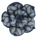 Polymer Ton Perlen , Blume, 26x25x12.50mm, Bohrung:ca. 2mm, 100PCs/Tasche, verkauft von Tasche