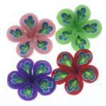 Beads polimer balta, Polymer Clay, Lule, asnjë, ngjyra të përziera, 19-22mm, : 1.5-2mm, 100PC/Qese,  Qese