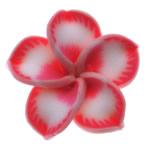 Beads polimer balta, Polymer Clay, Lule, asnjë, rozë, 19x18.50x9mm, : 2mm, 100PC/Qese,  Qese