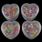 Seed Glass Beads përziera, i përzier, 32x30x15mm, 1.9-3.6mm, : 1mm, 12Boxes/Kuti,  Kuti