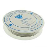 Wire bakri, Tunxh, asnjë, ngjyrë platin, , nikel çojë \x26amp; kadmium falas, 0.50mm, 10PC/Shumë,  Shumë