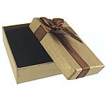 Karton Set bizhuteri Box, Drejtkëndësh, ar, 90x60x30mm, 24PC/Shumë,  Shumë