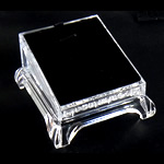Moda bizhuteri Display, Glass Organike, Drejtkëndësh, asnjë, i tejdukshëm, qartë, 90x80x50mm, 10PC/Shumë,  Shumë