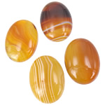 Agat Cabochon, Agat Kafe, Oval, natyror, shirit, 18x25mm, 20PC/Qese,  Qese