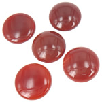Agat Cabochon, Red agat, Round Flat, 24x24mm, 20PC/Qese,  Qese