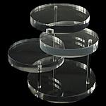 Moda bizhuteri Display, Glass Organike, Drejtkëndësh, asnjë, i tejdukshëm, qartë, 75x70x8mm, 5PC/Shumë,  Shumë