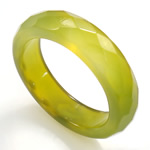 Agat unazë gishti, Jeshile agat, Shape Tjera, asnjë, makinë faceted, 5.5mm, 19mm, :9, 10PC/Qese,  Qese