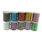 Thread metalike Color, Kimike Fiber Thread, ngjyra të përziera, 0.70mm, 10PC/Shumë,  Shumë