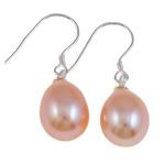 Një palë vathë Pearl ujërave të ëmbla, Pearl kulturuar ujërave të ëmbla, Shape Tjera, asnjë, rozë, 8-9mm,  Palë