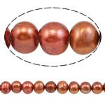 Barok Beads kulturuar Pearl ujërave të ëmbla, Pearl kulturuar ujërave të ëmbla, i lyer, 9-10mm, : 0.8mm, :15Inç,  15Inç,