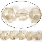 Imitim Swarovski Crystal Beads, Kristal, Gjashtëkëndësh, asnjë, imitim kristal Swarovski & makinë faceted, Silver shampanjë, 14x12x10mm, : 1mm, 100PC/Shumë,  Shumë