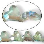 Imitim Swarovski Crystal Beads, Kristal, Zemër, asnjë, imitim kristal Swarovski & makinë faceted, asnjë, 17x14x8mm, : 1mm, 100PC/Shumë,  Shumë