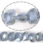 Imitim Swarovski Crystal Beads, Kristal, Shape Tjera, asnjë, imitim kristal Swarovski & makinë faceted, Lt Sapphire, 13x10x9mm, : 1mm, 100PC/Shumë,  Shumë