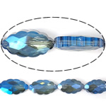 Imitim Swarovski Crystal Beads, Kristal, Oval, asnjë, imitim kristal Swarovski & makinë faceted, Safir, 25x13x8mm, : 1mm, 100PC/Shumë,  Shumë