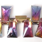Imitim Swarovski Crystal Beads, Kristal, Trapez, asnjë, imitim kristal Swarovski & makinë faceted, asnjë, 20x11x7mm, : 1mm, 100PC/Shumë,  Shumë