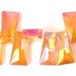 Imitim Swarovski Crystal Beads, Kristal, Trapez, asnjë, imitim kristal Swarovski & makinë faceted, Zjarri Opal, 20x11x7mm, : 1mm, 100PC/Shumë,  Shumë