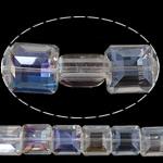 Imitim Swarovski Crystal Beads, Kristal, Katror, asnjë, imitim kristal Swarovski & makinë faceted, Kristal, 14x14x8mm, : 1mm, 100PC/Shumë,  Shumë