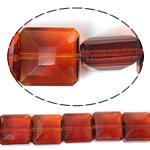 Imitim Swarovski Crystal Beads, Kristal, Katror, asnjë, imitim kristal Swarovski & makinë faceted, Zjarri Opal, 14x14x8mm, : 1mm, 100PC/Shumë,  Shumë