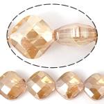 Imitim Swarovski Crystal Beads, Kristal, Katror, asnjë, imitim kristal Swarovski & makinë faceted, Champagne Gold, 15x15x9mm, : 1mm, 100PC/Shumë,  Shumë