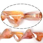Imitim Swarovski Crystal Beads, Kristal, Zemër, asnjë, imitim kristal Swarovski & makinë faceted, Zjarri Opal, 22x18x10mm, : 2mm, 100PC/Shumë,  Shumë