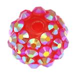 Beads diamant i rremë Rrëshirë, Rrëshirë diamant i rremë, Daulle, asnjë, rozë, 12x14mm, : 2.5mm, 100PC/Qese,  Qese