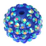 Beads diamant i rremë Rrëshirë, Rrëshirë diamant i rremë, Daulle, asnjë, blu, 16x18mm, : 3mm, 100PC/Qese,  Qese