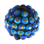 Beads diamant i rremë Rrëshirë, Rrëshirë diamant i rremë, Daulle, asnjë, blu, 14x16mm, : 2.5mm, 100PC/Qese,  Qese