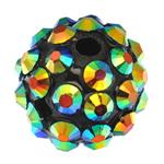 Beads diamant i rremë Rrëshirë, Rrëshirë diamant i rremë, Daulle, asnjë, 12x14mm, : 2mm, 100PC/Qese,  Qese